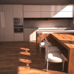 Moderná lesklá kuchyna
