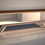 Vizualizácia stolíka pod tv